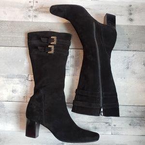 Barneys New York CO-OP Heeled Suede Boots